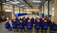 workers gather at the trade test