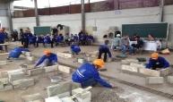建設業のスキルテスト活動の写真