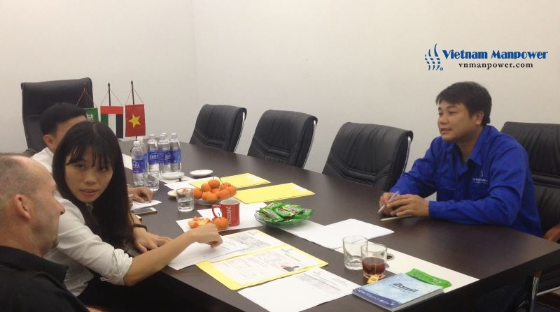 Vietnam Manpower held the second interview for Zamil's representative and candidates