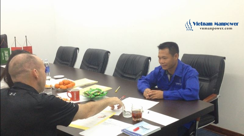 Vietnam Manpower held the second interview for Zamil's representative and candidates 03