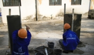 Plasterer Trade test for Vietnam Manpower's Client
