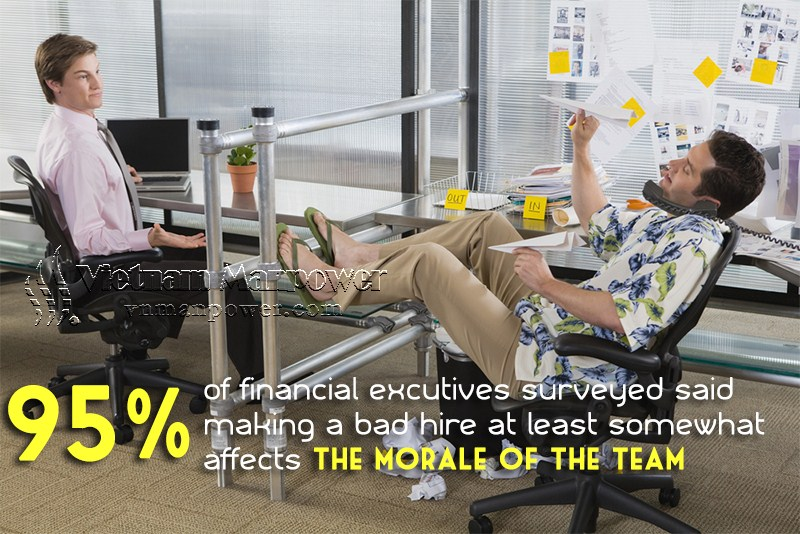 bad hire increase morale of the team