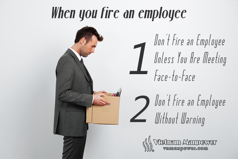 How to fire an employee peacefully