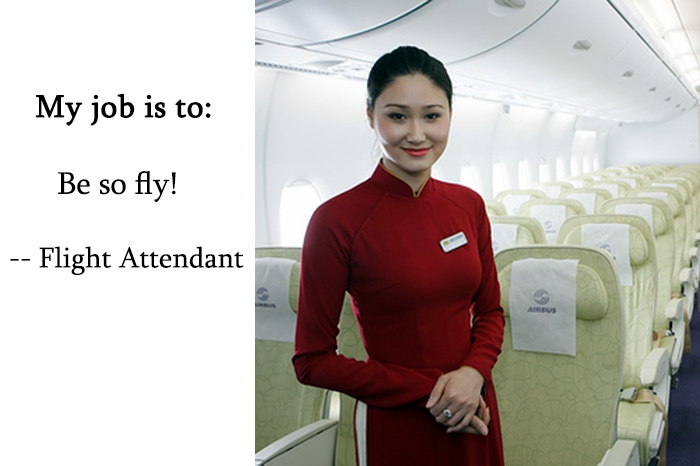 10 Funny job descriptions Describe your job to us – Flight Attendant Job Description