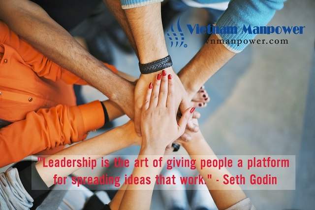 Leadership is the art of giving people a platform for spreading ideas that work