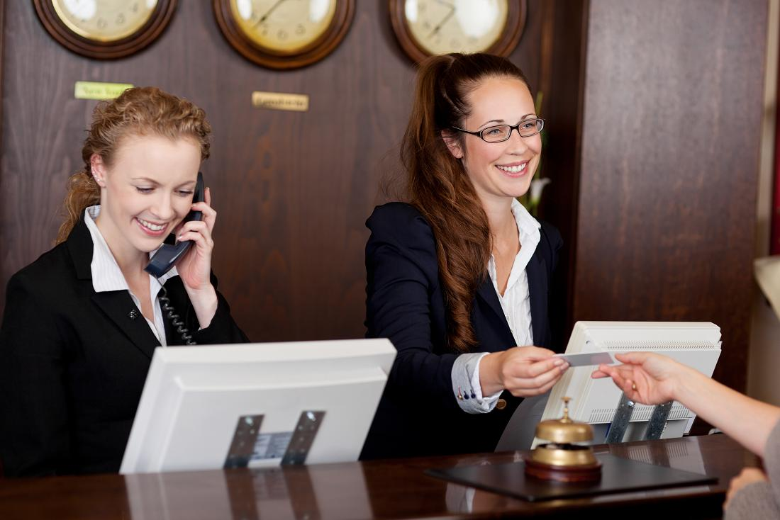 Hotel Resort Staffs In Front Desk Supervisor