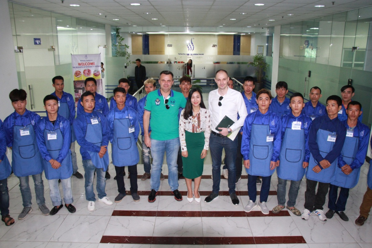 Marifor - the largest meat processing and supply chain in Romania cooperated with Vietnam Manpower in recruiting butchers and food packaging workers