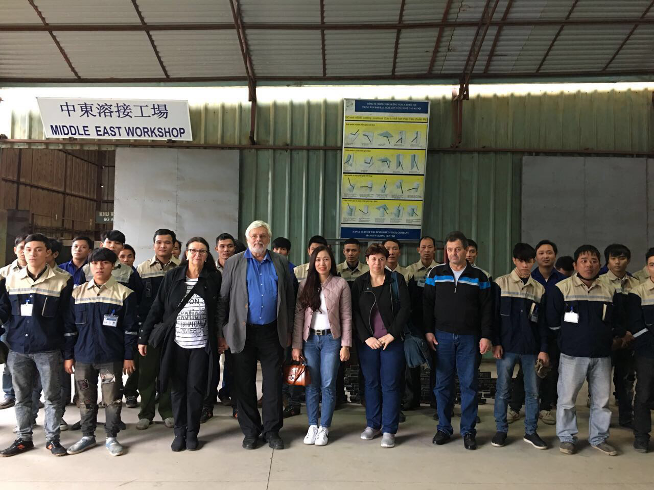 95% of Vietnam welders passed the trade test with German company T.Q to work in Romania